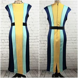 New York & Co. Color block midi dress